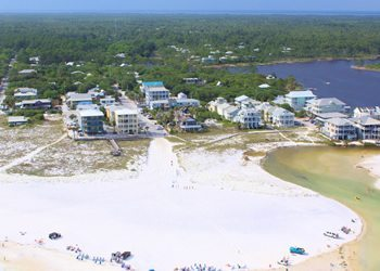 aerial photo of Grayton Grand hotel by The Jay Odom Group